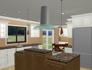 Kitchen Island Hoods pendant lighting and an island hood