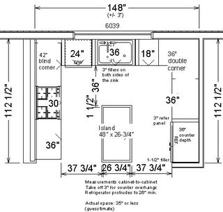 Kitchen Layouts With Dimensions - Kitchen Layout and Decorating Ideas